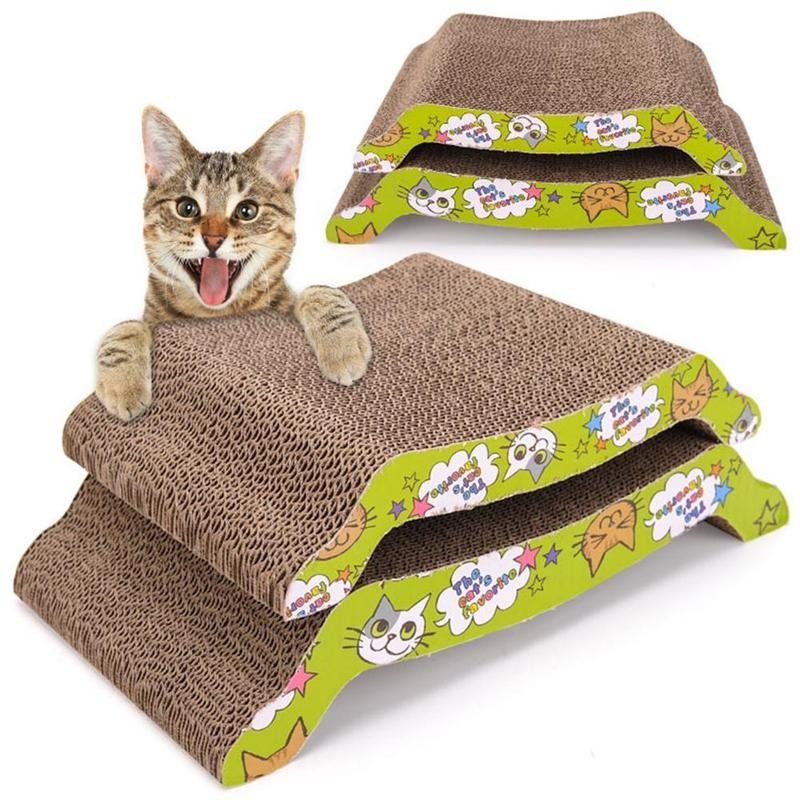 Cat Supplies Wide Cat Scratching Board With Catnip Rapid Heat Dissipation Dishes, Feeders & Fountains