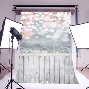 Image 1 - Fondo de fotografía Bokeh Halos Twinkle Vintage rayas suelo de madera sin costuras Feliz Navidad foto de fondo