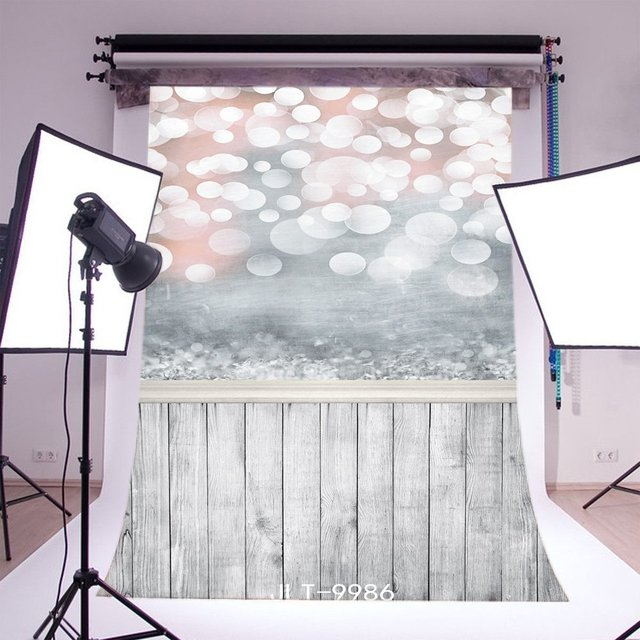 Fotografie Kulissen Bokeh Halos Twinkle Vintage Streifen Holz Boden Nahtlose Frohe Weihnachten Foto Hintergrund
