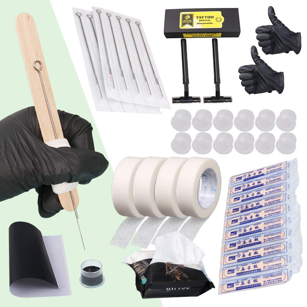 Hand Poke and Stick Tattoo Kit - Clean & Safe Stick & Poke TattoosHand Poke and Stick Tattoo Kit - Clean & Safe Stick & Poke Tattoos