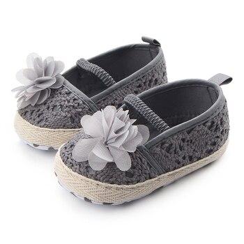 koronkowe buciki dziewczęce z kwiatkiem