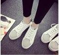 2017 mulheres Primavera sapatos casuais mulheres sapatos de lona moda Microfibra PU estudantes de fundo plano sapatos para as mulheres