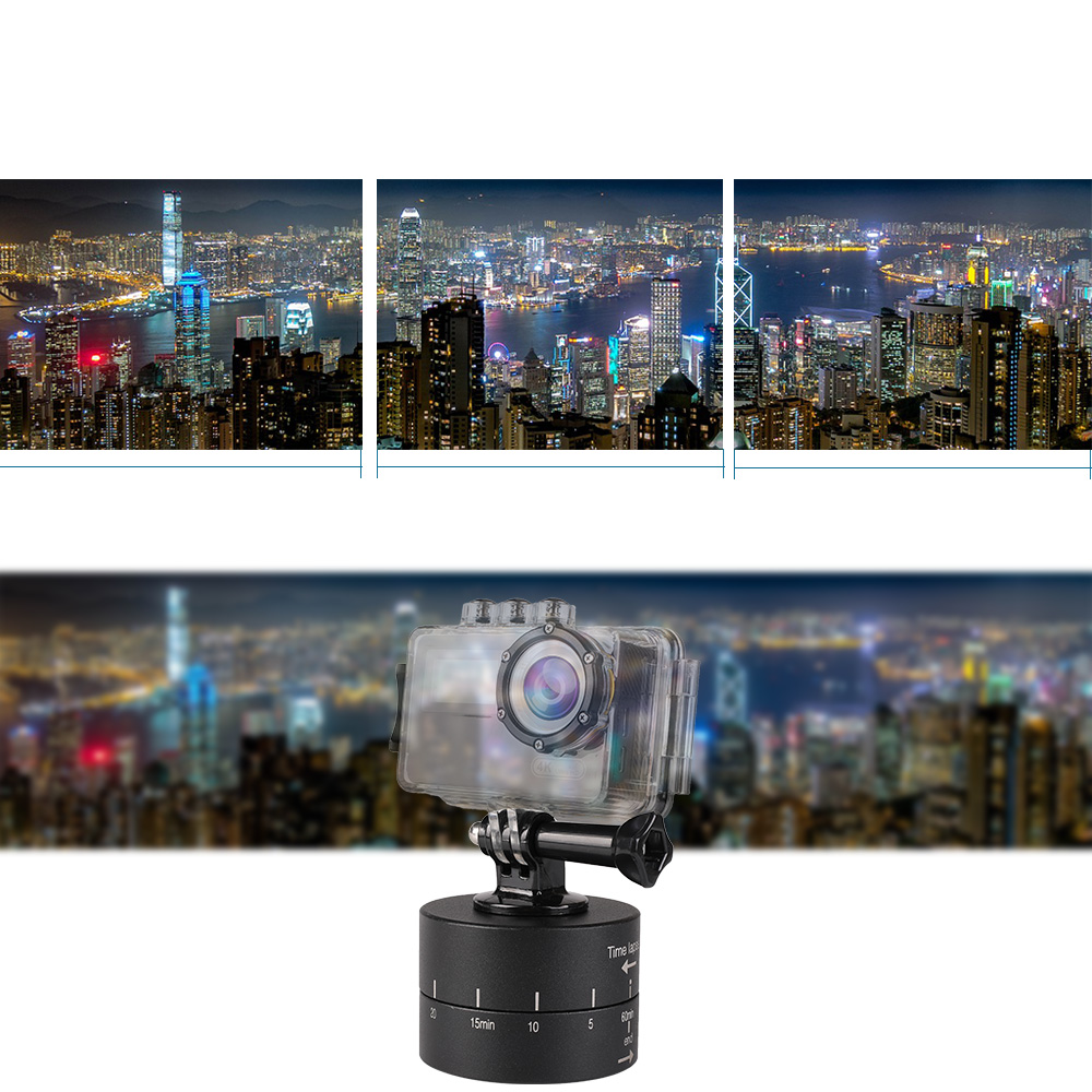 Image 5 - Kaliou Time Lapse Shooting 60min Timer 360 Degree Rotating Tripod Delay Stabilizer Tilt Head for Gopro 7 6 5 4 3+ SJCAM Xiaomi Y-in Tripod Heads from Consumer Electronics