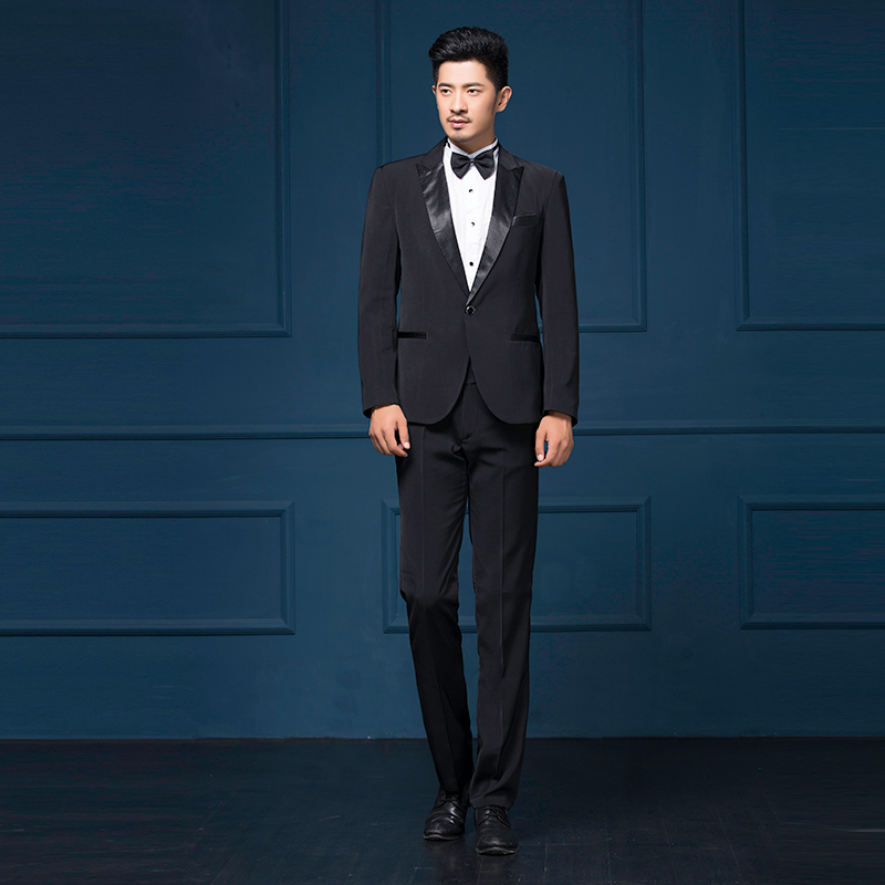 Male mens formal dress men groom suit married suits male costume men wedding suits 2018 latest coat pant designs black M - 2XL