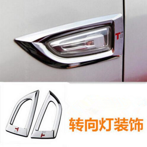 Car styling ABS Chrome Side Turn Signal LightLamp Cover Trim Sticker case For Opel ASTRA J For Buick Excelle XTGT 2010-2016