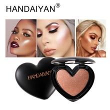 HANDAIYAN Face Makeup Highlighter Pressed Powder Heart-shaped Highlight Palette Brighten Illuminator Contouring  Shimmer Bronzer недорого