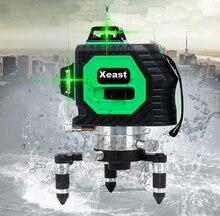 Xeast 8 linie Zielony Czerwony laser niwelator laserowy miernik poziomu 3D 360 Obrotowy Ściany Wielu Linii Automatyczne Samopoziomujący Laser Level