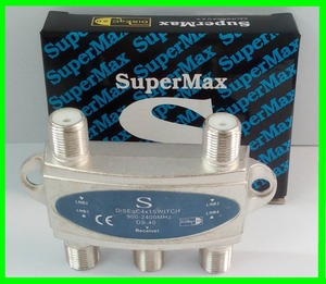 SUPERMAX DS-40 4X1 DiSEqC Switch Satellites FTA TV LNB Switch For Satellite Receiver(China)
