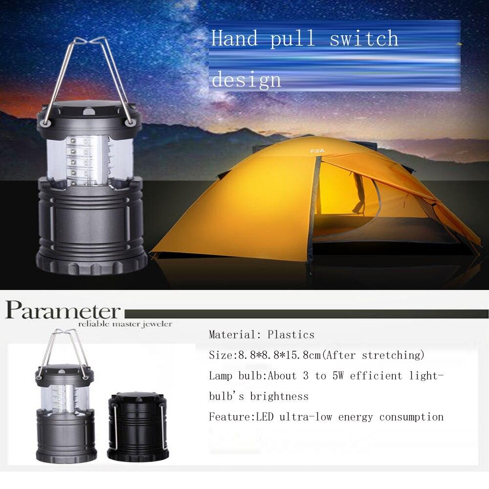 1 Stücke 30 Led Outdoor Ultra-helle Camping Lampe Tragbare Laternen Lichter Wasserdicht Zelt Hängen Taschenlampe Camping Lampen