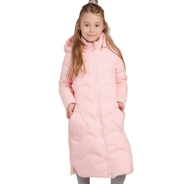 Russia Style Girls Winter Coats Children Clothing Girls Long Thickened Warm Parkas Kids Duck Down Jacket For Girls 7-14 Years new 2017 russia winter boys clothing warm jacket for kids thick coats high quality overalls for boy down