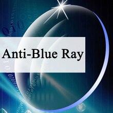 A paire lentilles Anti rayon bleu asphérique lentille Prescription myopie lunettes presbytie lentille Anti rayonnement 1.56 & 1.61 & 1.67 Index