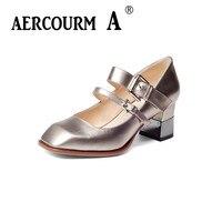 Aercourm Een 2017 Herfst Vrouwen Pompen Plus Size 34-43 Elegante Puntschoen Hoge Hakken Casual Lady Vrouw Schoenen Groen/Zilver H904