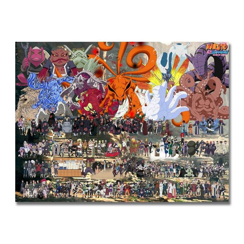 Плакат Наруто Узумаки Наруто Учиха Саске харано Сакура 24x36 дюймов для украшения комнаты 006|Рисование и каллиграфия| | АлиЭкспресс