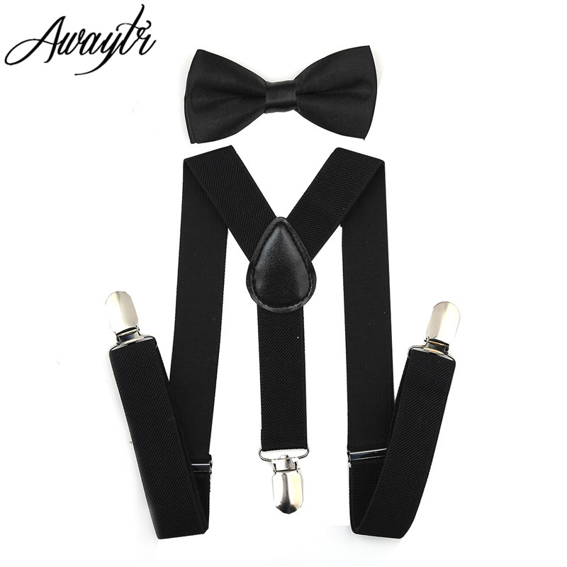 Awaytr Kids Suspenders 2017 Boys Boys Adjustable Elastic Clip On Baby - Αξεσουάρ ένδυσης - Φωτογραφία 2