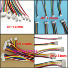 10pcs JST SH ZH XH PH 1.0mm 1.25mm 1.5mm 2.0mm 2.54mm 2.0 2/3/4/5/6/12-Pin Female Connector with cable