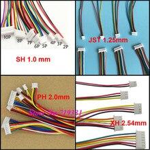 10 шт. JST SH ZH XH рН 1.0 ММ 1.25 мм 1.5 мм 2.0 мм 2.54 мм 2.0 2/ 3/4/5/6/12-Булавки разъем с кабелем