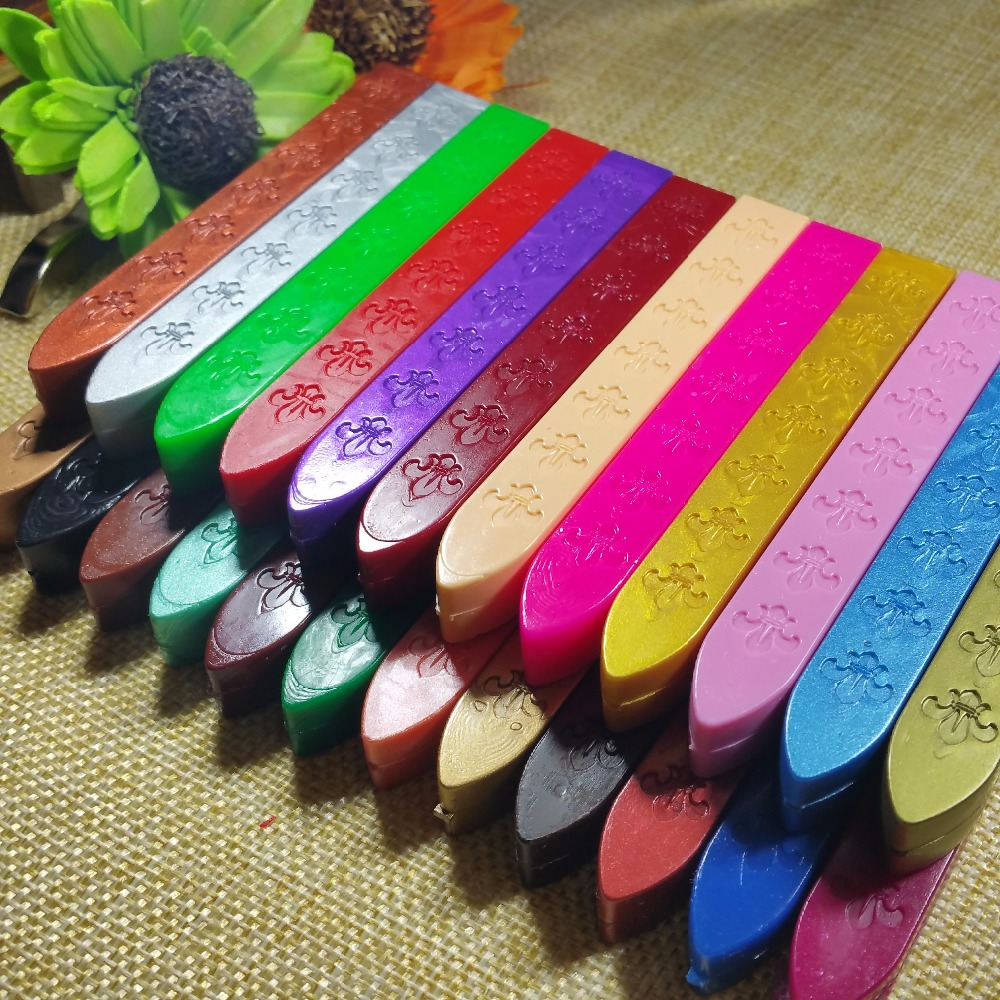 multicolor Sealing wax seal dedicated beeswax stick wax strips branding paint stamp Wax for ...