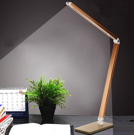 Touch Control Led Reading Lamp 3-level Brightness Folding Reading Desk Lamp Light With USB Recharge Study Light For Bedroom ...