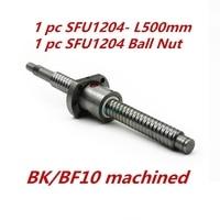Free Shipping 1 Pc 12mm 1204 Ball Screw SFU1204 Length 500mm Plus 1pc RM1204 Ball Nut
