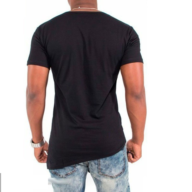 2017 Summer fashion irregular Hip Hop T shirt design Swag cotton o collar t shirt Men skateboard Tyga high brand clothing in T Shirts from Men 39 s Clothing