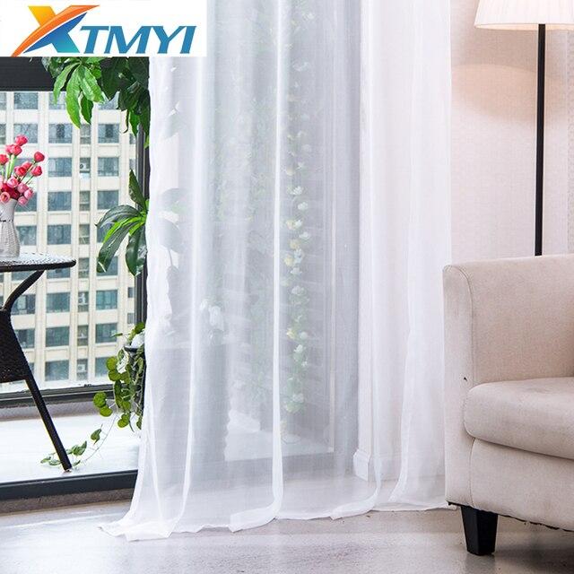 Giappone finestra soild tulle tende per il salone bianco tende della cucina Shee