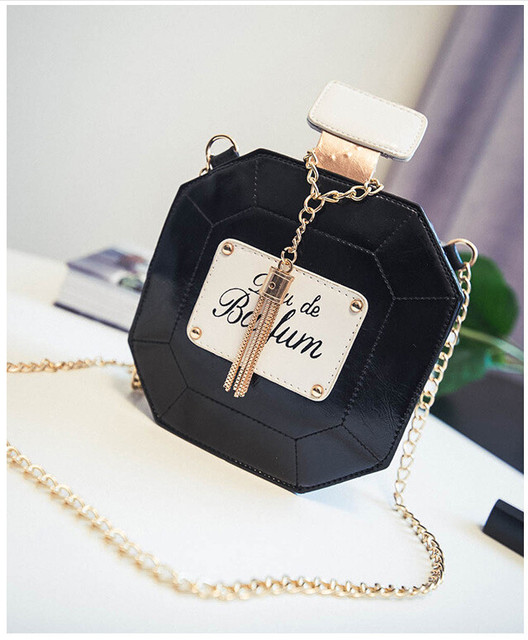 2017 Evening Bags Leather Perfume Bottle Chain Mini Clutch Bag 2017 Women Handbag Fashion Party Women Bags