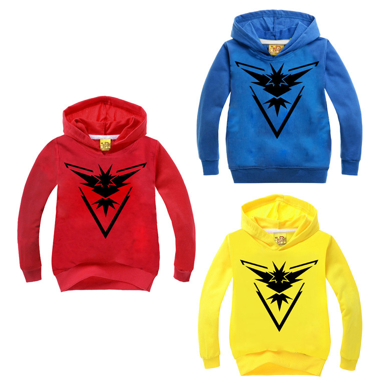 2017 New Boys Clothes Pokemon Go Hoodies Kids Sweatshirts Hooded Cartoon Printed Coat Causal Outwear Children Clothing 12 Years