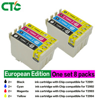 8 Compatible For Epson T299XL Ink Cartridges With Epson Expression Home XP 445 XP 245 XP
