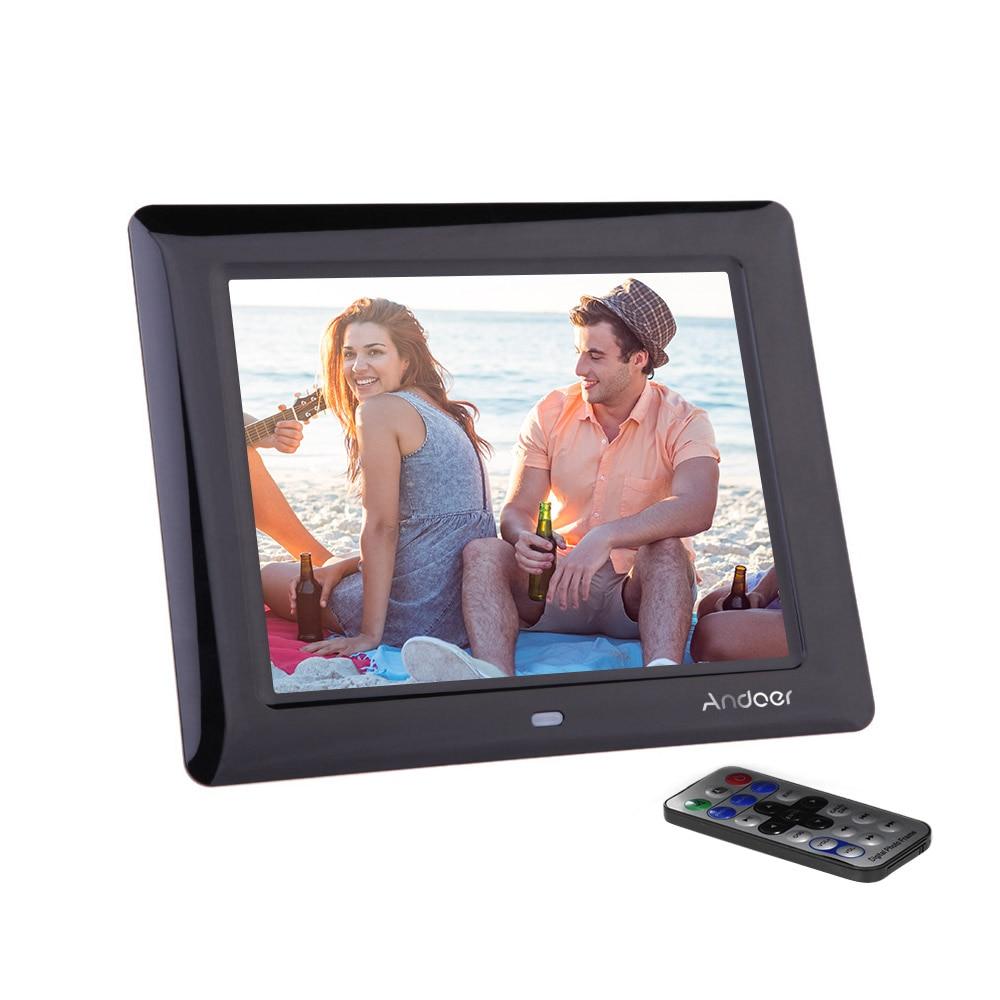 Andoer 8 HD TFT LCD Digital Photo Frame high quality digital photo Clock MP3 MP4 Movie