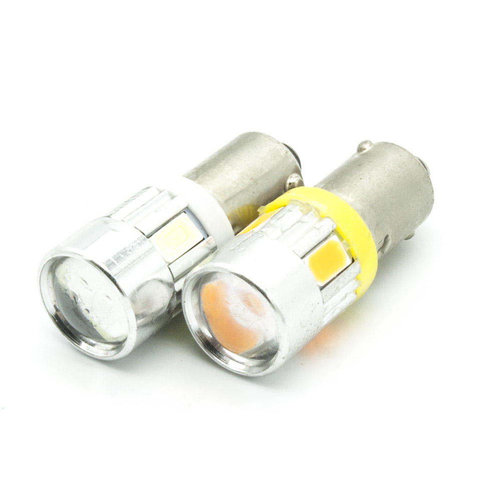 2xba9s T4w 6-5730 SMD LED Dome Festoon Reading Lamp,License Plate Lamp,Door lamp DC 12V White/yellow(amber) Lights led bulb festoon 39mm 4 5w 180lm 9 smd 5730 led white light car reading lamp silver yellow 2 pcs 12v