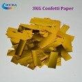 3 Kg/lote Decoração Wedding Party Confetti Poppers Explodindo Com Confetes De Papel De Ouro