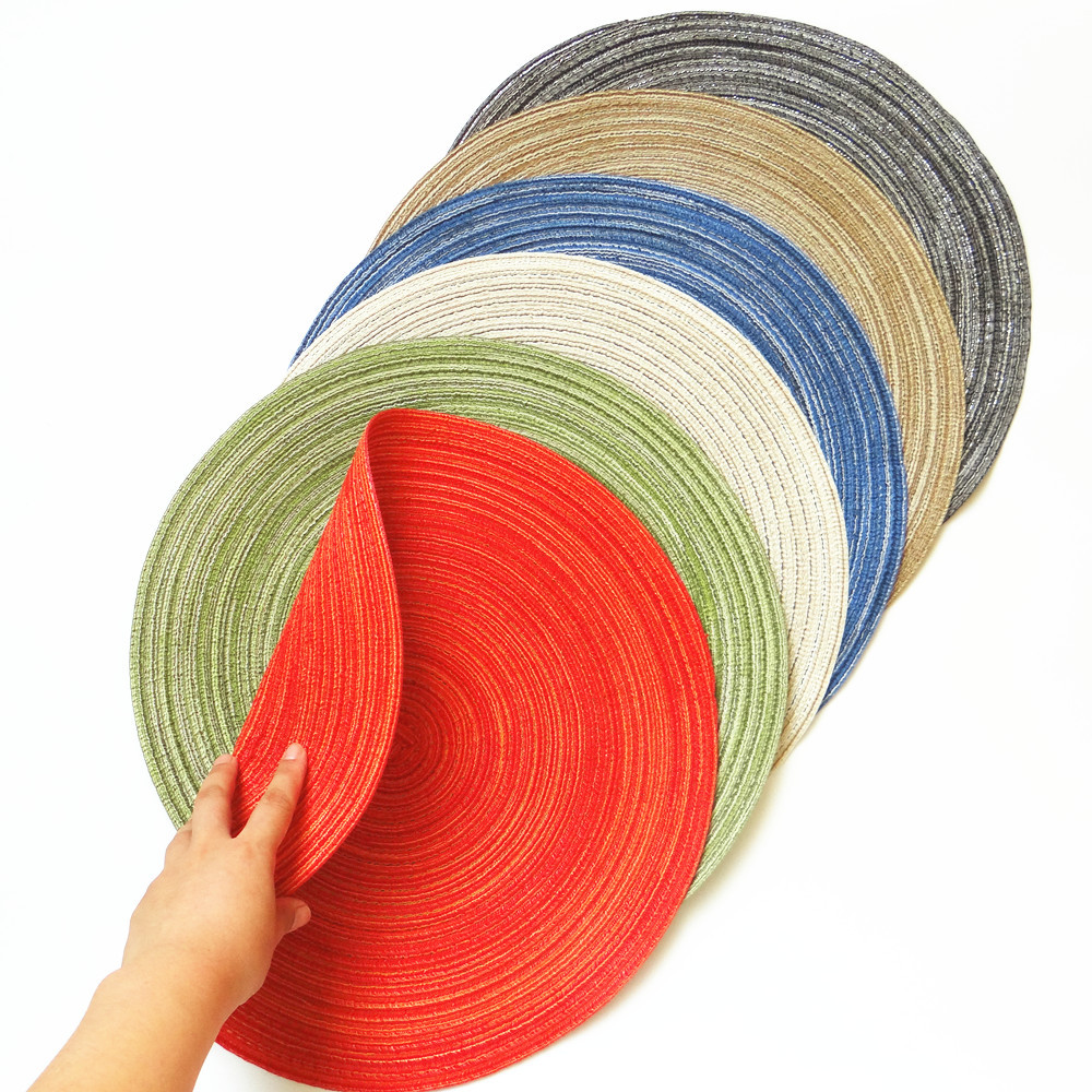 HAKOONA  Round Table Mats Solid Color Table Pads Home Decoration