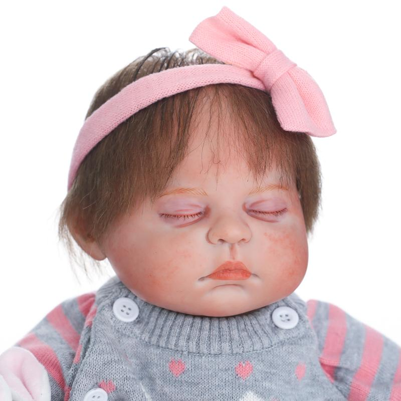 купить NPKCOLLECTION 18 Inch Silicone Real Doll Reborn Baby Alive Sleeping Dolls 45CM Soft Silicone Reborn Dolls Real Touch Newborn Toy по цене 6588.28 рублей