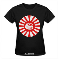 RTTMALL Black White European Minimalist T Shirts High Quality Screw Neck Top Kamikaze Japanese Pepe The