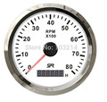 Best price!!! 85mm Tachometer gauge tacho white faceplate stainless steel bezel boat car tachometer 0-8000rpm for diesel engine
