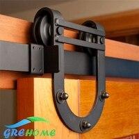 6 6 FT Cast Iron Wall Mount Sliding Door Hardware