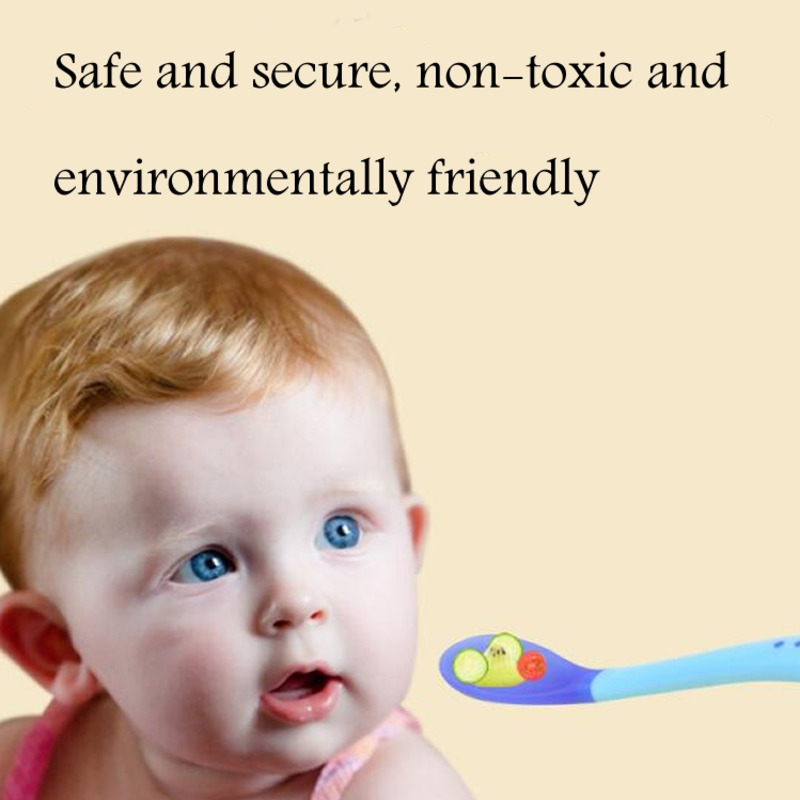 Baby Temperature Sensing Spoon And Fork Safe Silicone Feeding Tableware Baby Feeding Utensils Boy Feeding Spoon Tableware