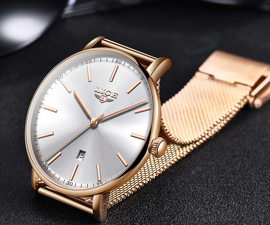 Women's Stainless Steel Ultra Thin Watch