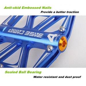 Ультралегкие алюминиевые педали для велосипеда, противоскользящие горные беговые дорожки с 4 шариковыми подшипниками, Аксессуары для велосипеда, педали