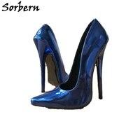 Sorbern/туфли лодочки на маленьком каблуке 18 см, обувь без шнуровки, женские туфли на высоком каблуке с острым носком, весна осень, новые женские