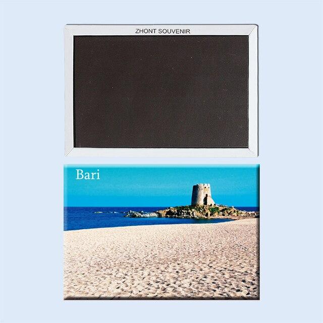 מזכרות נסיעות יפה נוף על החוף בארי איטליה 22968 מקרר מגנטי