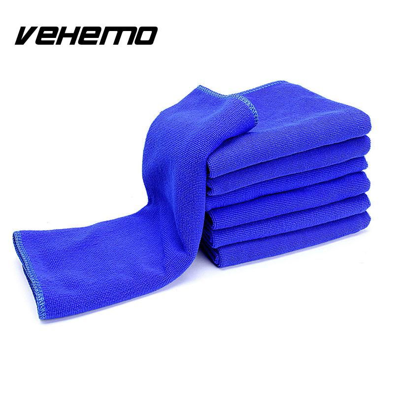 5pcs Large Microfibre Cleaning Car Detailing Soft Cloths Wash Polish Towel Blue^