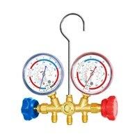 Medidor de presión de refrigeración de aspiradora probador de colector de presión medidor de temperatura HVAC HERRAMIENTA DE REPARACIÓN DE AIRE ACONDICIONADO
