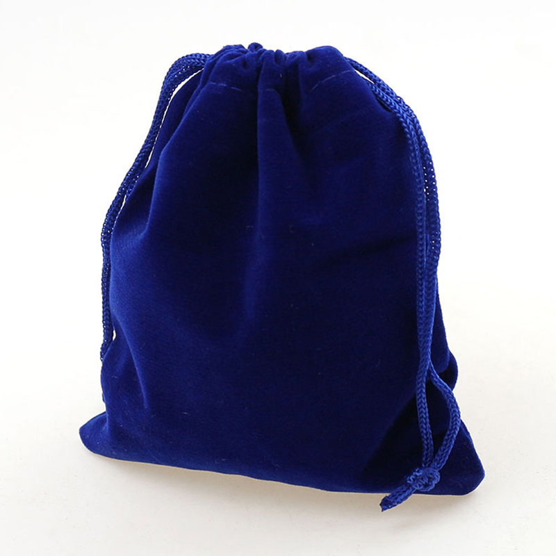 Us 8 83 32 Off 7 9cm 50pcs Royal Blue Jewelry Velvet Bags For Packing Gifts Handmade Diy Women Jewellery Pouches Flannel Bag Drawstring Bag In