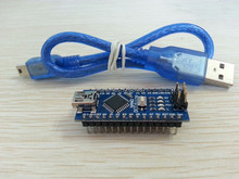 Free Shipping 10PCS/LOT For arduino Nano 3.0 Atmel ATmega328 Mini-USB Board+ 1pcs USB Cable brand new