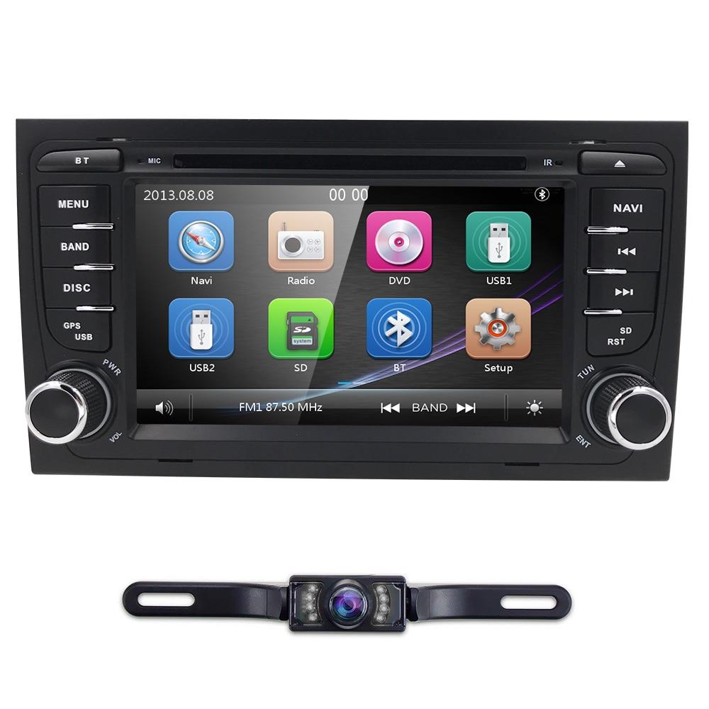 Mirror link Bluetooth Car DVD 7 Inch GPS for Audi A4 B6 2000 2006 year RS4 Seat Exeo navigation BT USB Free camera+8 GB Map card