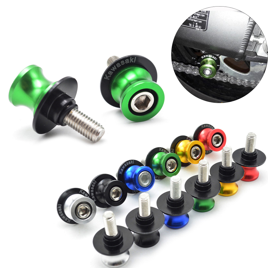 Motorcycle Swingarm Spools Slider Stand Screws Swingarm Sliders For Kawasaki NINJA 300 ZX6R ZX636 ZX10R Z800 Z1000 Z750R Z1000SX for kawasaki z800 z1000 zx 6r zx 10r kle 650 versys motorcycle accessories swingarm spools slider 8mm stand screws blue