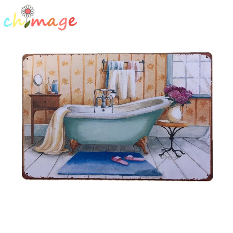 Buy Buthtub Classic Painting Tin Sign Bar