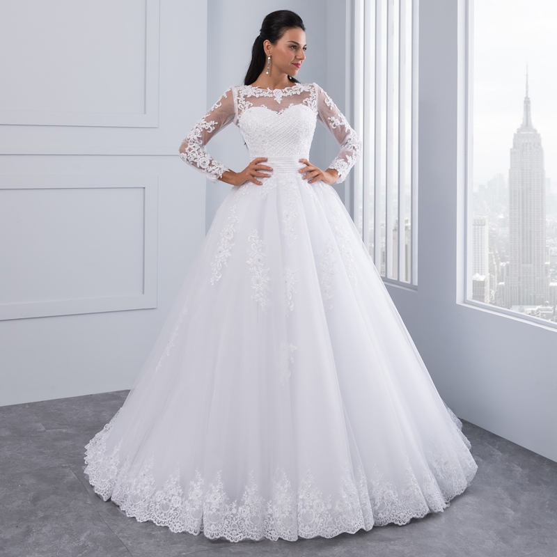 Miaoduo Ball Gown Wedding Dresses 2018 Detachable train Lace ...