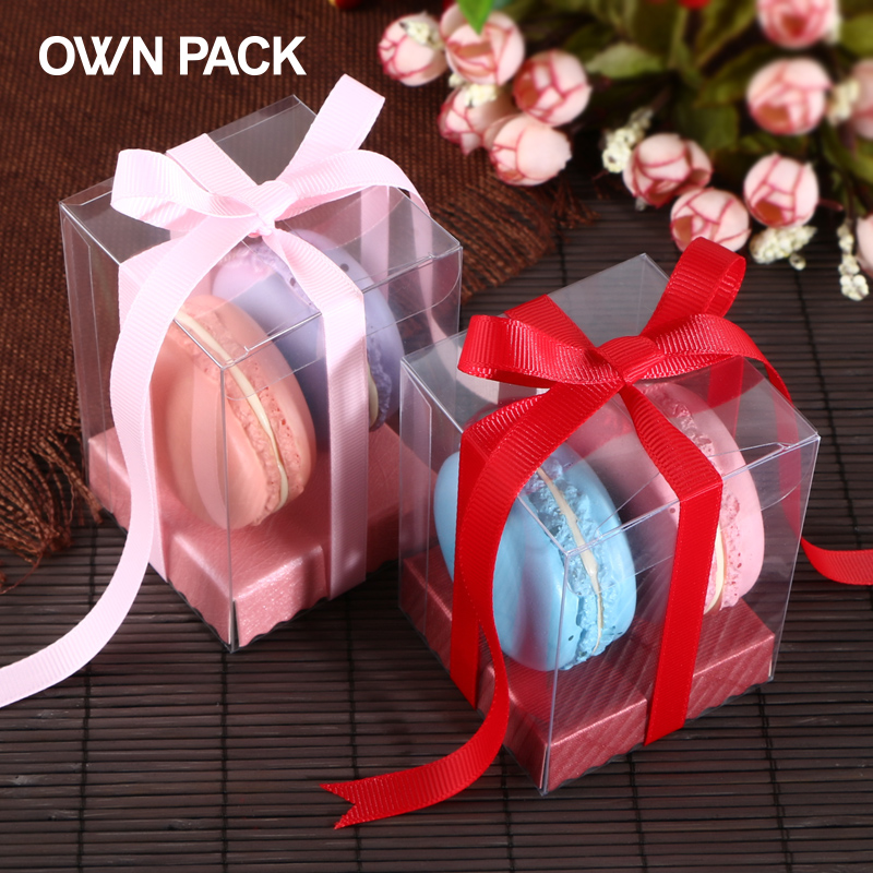 Direct Selling Clear Box 10pcs Lot 66h And Pedestal Gifts Box Wedding Gifts For Guests Plastic Container Macarons Package In Gift Bags Wrapping